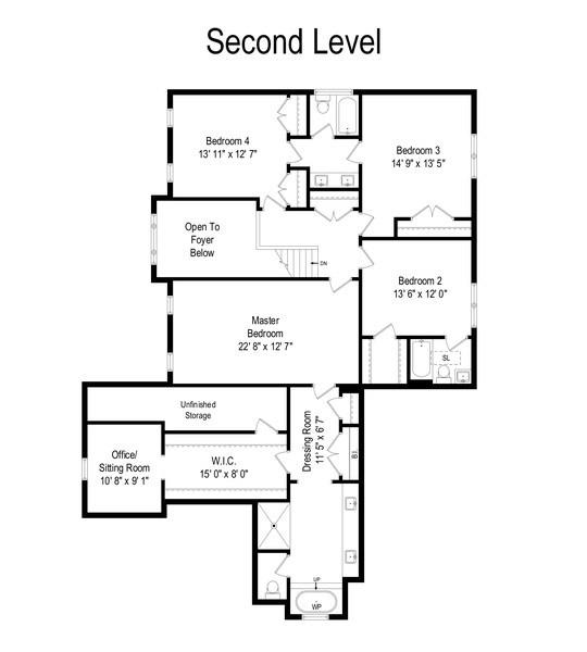 Real Estate Photography - 664 Oak Rd, Barrington, IL, 60010 - Floor Plan