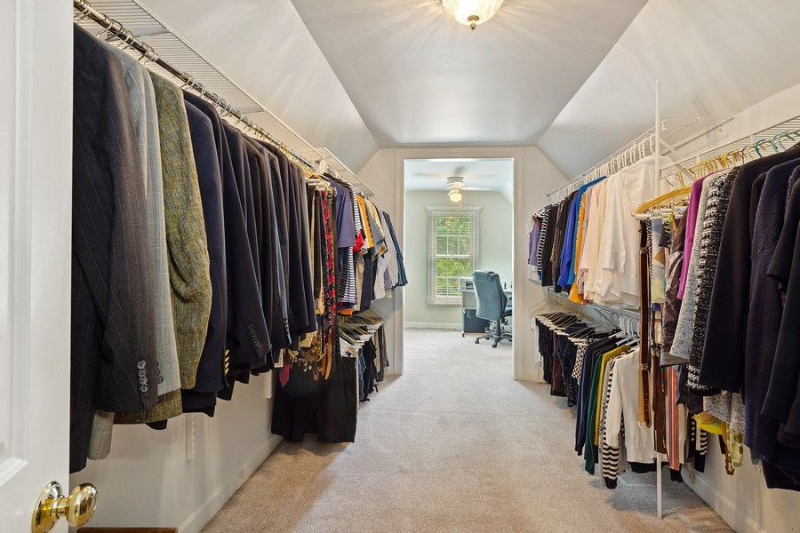 Real Estate Photography - 664 Oak Rd, Barrington, IL, 60010 - Master Bedroom Walk-in Closet
