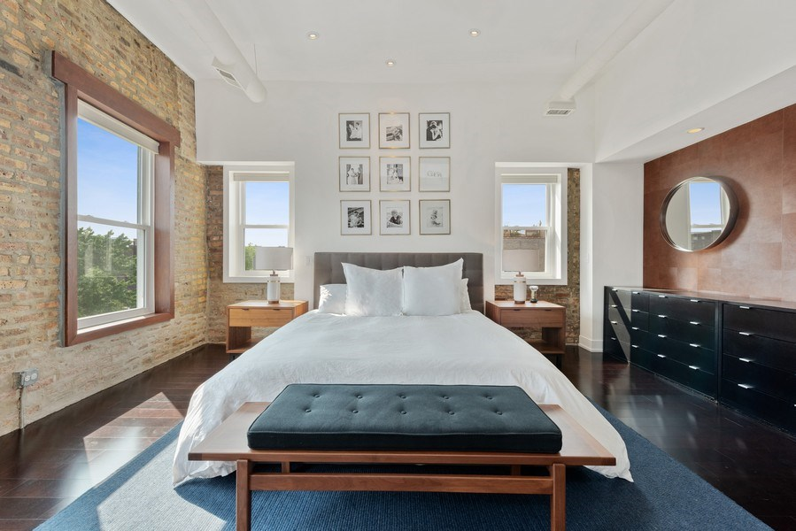 Real Estate Photography - 1406 N. Paulina St., Chicago, IL, 60622 - Master Bedroom