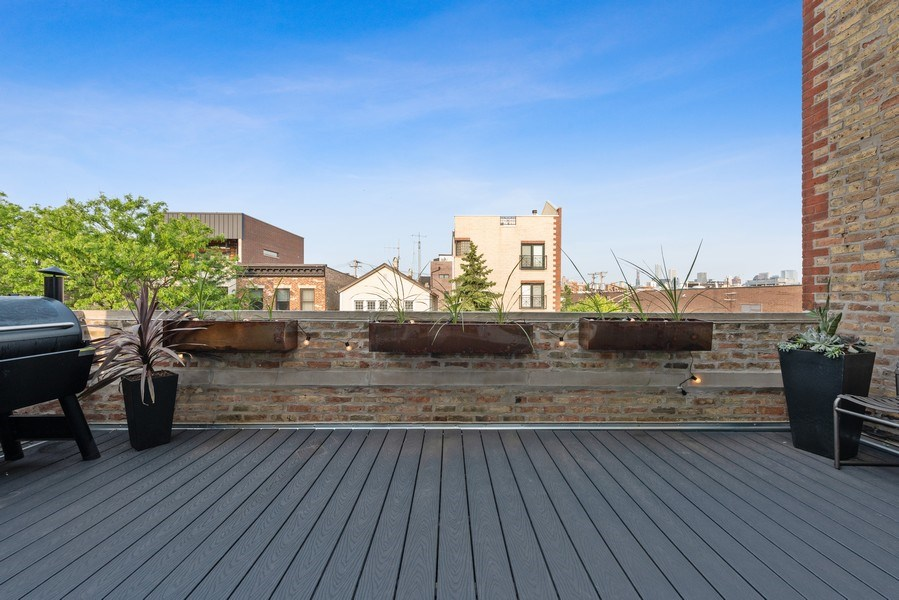 Real Estate Photography - 1406 N. Paulina St., Chicago, IL, 60622 - Terrace off of Living Room