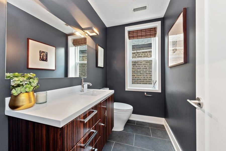 Real Estate Photography - 1406 N. Paulina St., Chicago, IL, 60622 - Half Bath on Main Level