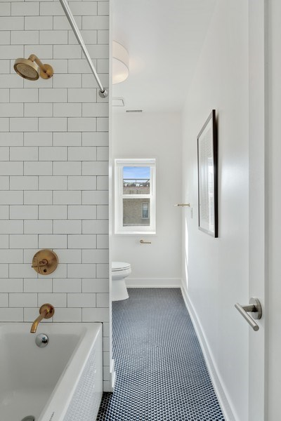 Real Estate Photography - 1406 N. Paulina St., Chicago, IL, 60622 - 2nd Bathroom