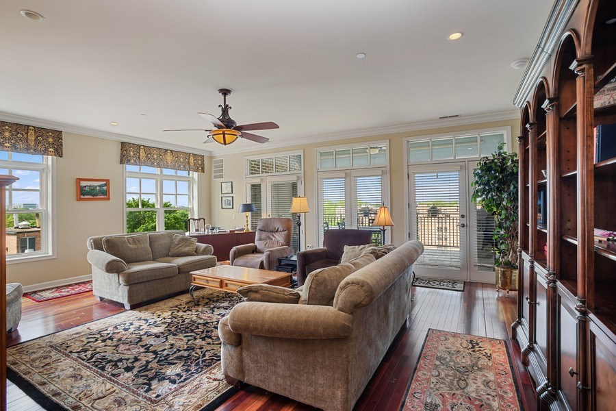 Real Estate Photography - 151 Wing Street, #603, Arlington Hts., IL, 60005 - Living Room