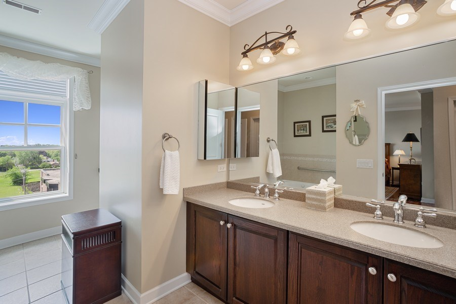 Real Estate Photography - 151 Wing Street, #603, Arlington Hts., IL, 60005 - Master Bathroom