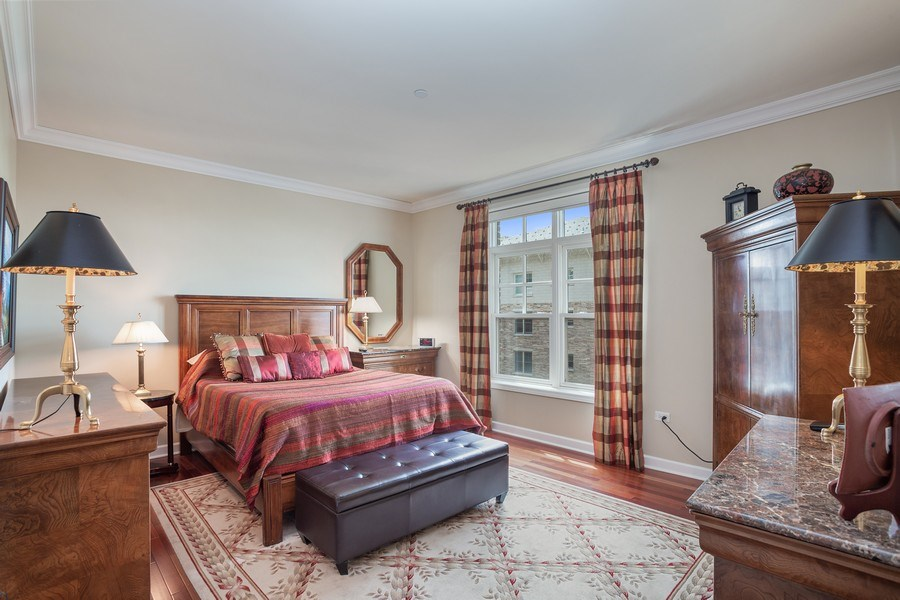 Real Estate Photography - 151 Wing Street, #603, Arlington Hts., IL, 60005 - Master Bedroom