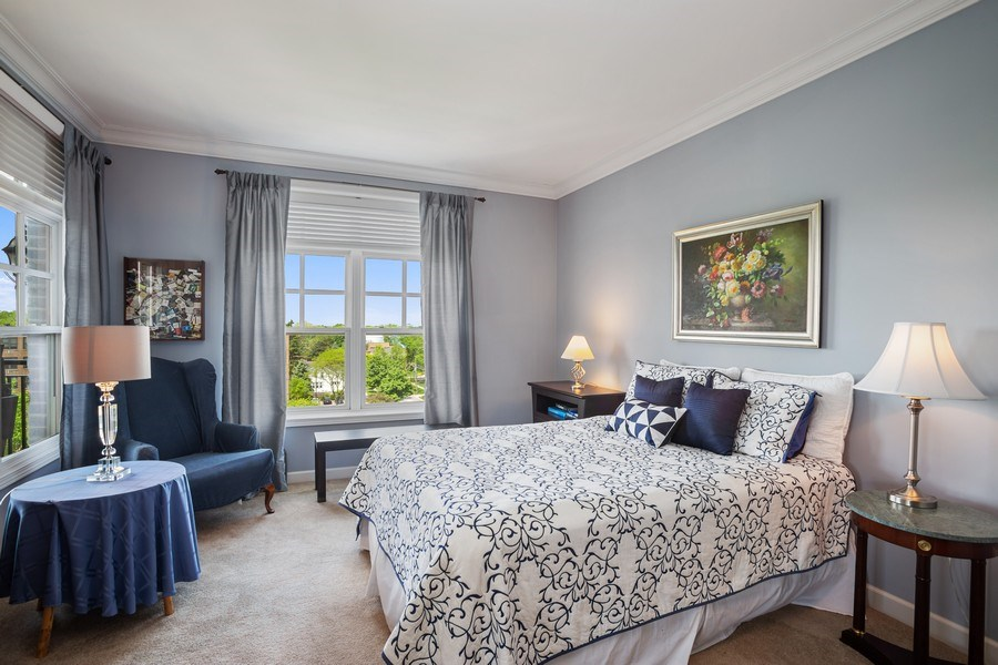 Real Estate Photography - 151 Wing Street, #603, Arlington Hts., IL, 60005 - Bedroom