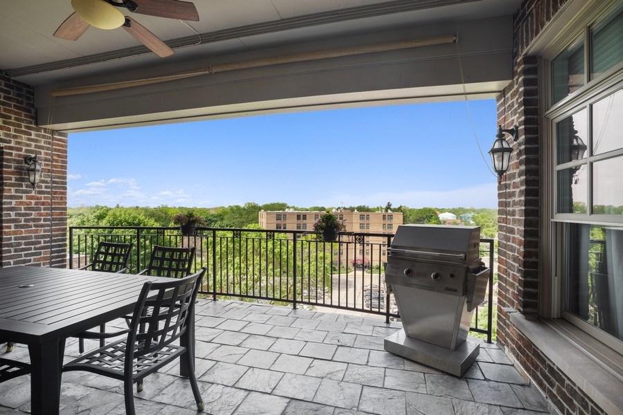 Real Estate Photography - 151 Wing Street, #603, Arlington Hts., IL, 60005 - Balcony