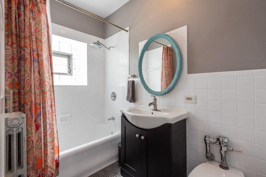 Real Estate Photography - 803 Elmwood, #1N, Evanston, IL, 60202 - Bathroom