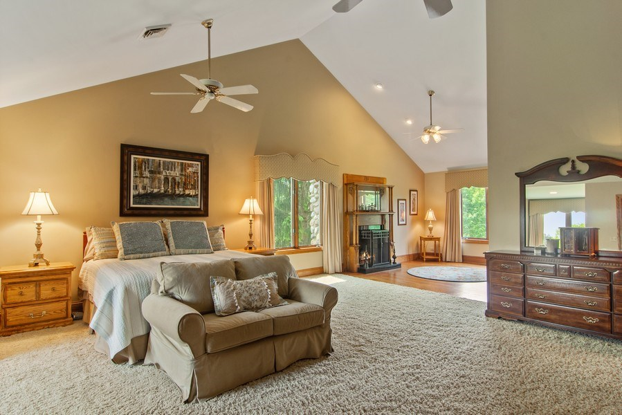 Real Estate Photography - 145 Cloverhill Lane, North Barrington, IL, 60010 - Master Bedroom