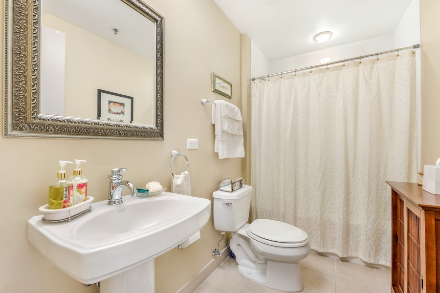Real Estate Photography - 77 S Evergreen Ave, #1201, Arlington Heights, IL, 60005 - 3rd Bathroom