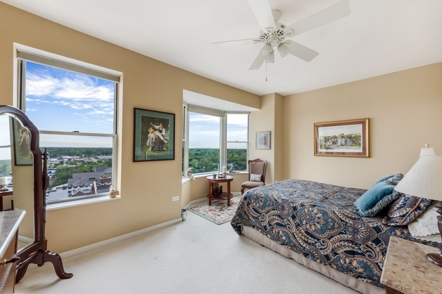 Real Estate Photography - 77 S Evergreen Ave, #1201, Arlington Heights, IL, 60005 - 2nd Master Bedroom