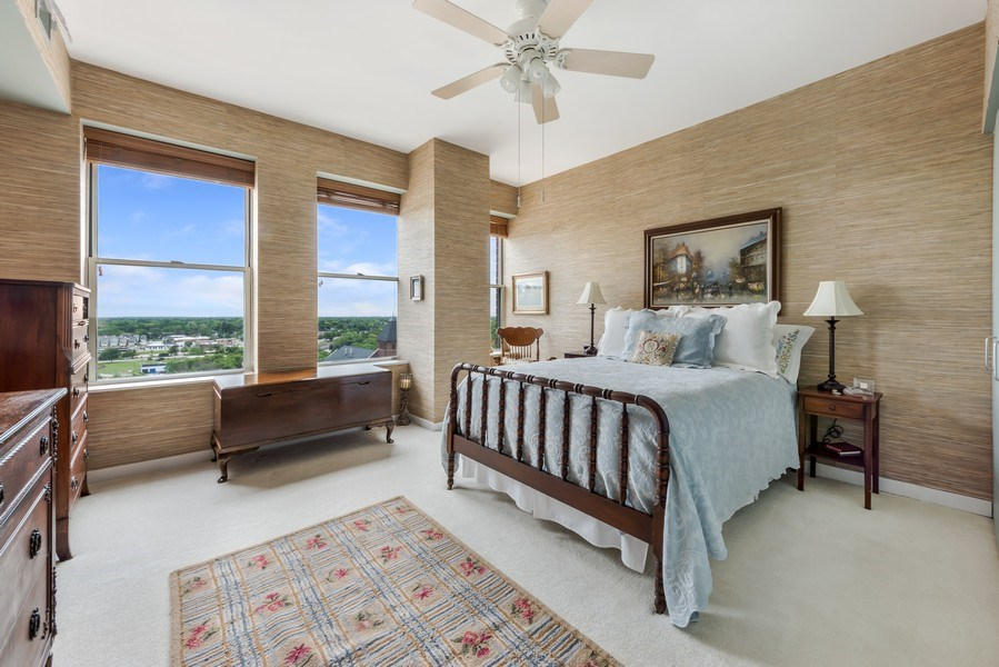 Real Estate Photography - 77 S Evergreen Ave, #1201, Arlington Heights, IL, 60005 - 3rd Bedroom