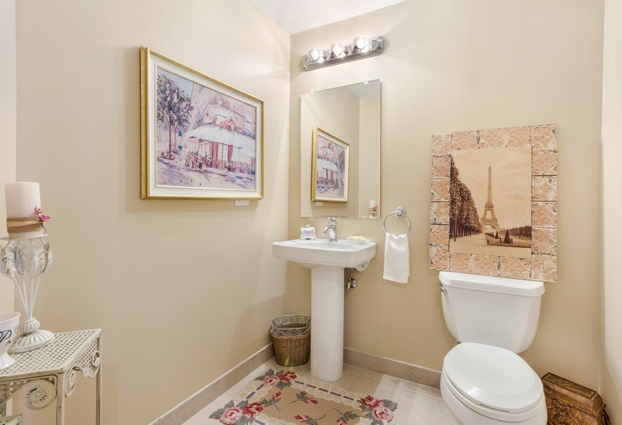 Real Estate Photography - 77 S Evergreen Ave, #1201, Arlington Heights, IL, 60005 - Powder Room