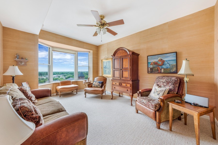 Real Estate Photography - 77 S Evergreen Ave, #1201, Arlington Heights, IL, 60005 - Den