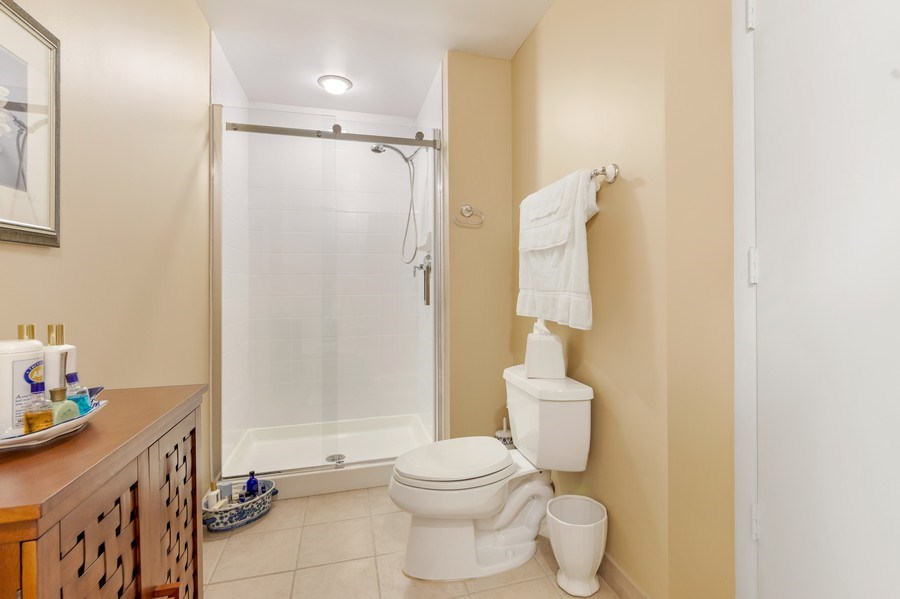 Real Estate Photography - 77 S Evergreen Ave, #1201, Arlington Heights, IL, 60005 - 2nd Master Bathroom