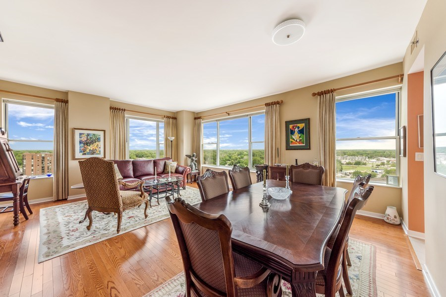 Real Estate Photography - 77 S Evergreen Ave, #1201, Arlington Heights, IL, 60005 - Living Room / Dining Room