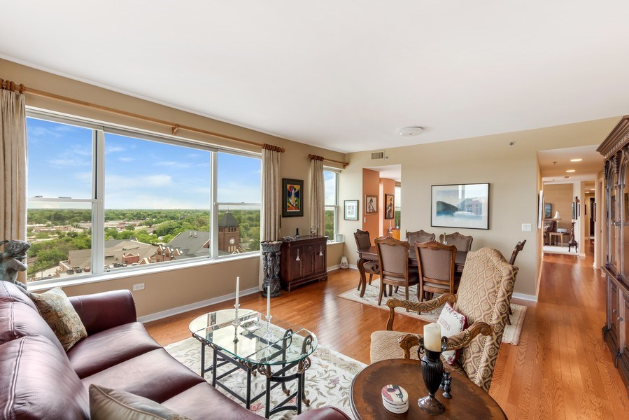 Real Estate Photography - 77 S Evergreen Ave, #1201, Arlington Heights, IL, 60005 - Living Room/Dining Room