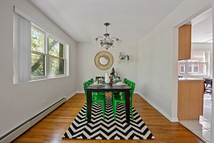 Real Estate Photography - 1930 W. Estes, #302, Chicago, IL, 60626 - Dining Room