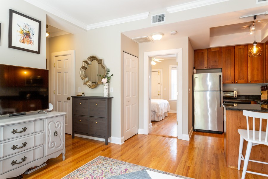 Real Estate Photography - 2241 1/2 Lincoln Ave, 3B, Chicago, IL, 60614 - Living Room