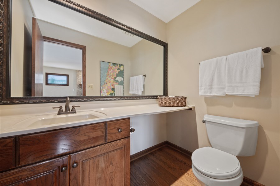 Real Estate Photography - 785 S Fairfield, Elmhurst, IL, 60126 - Powder Room