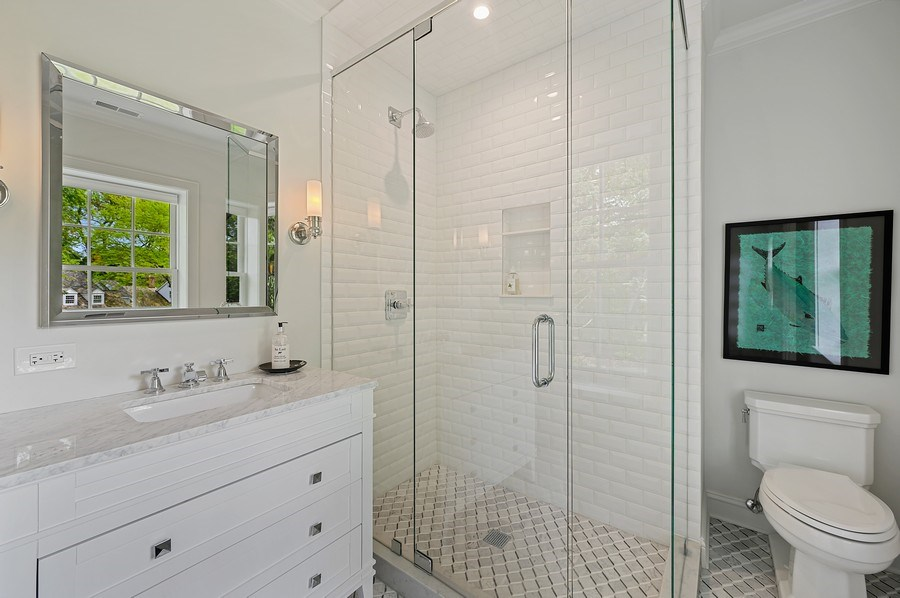 Real Estate Photography - 90 Indian Hill Road, Winnetka, IL, 60093 - 3rd Bathroom