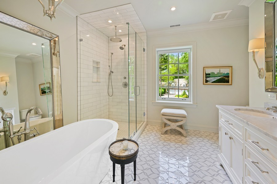 Real Estate Photography - 90 Indian Hill Road, Winnetka, IL, 60093 - Master Bathroom