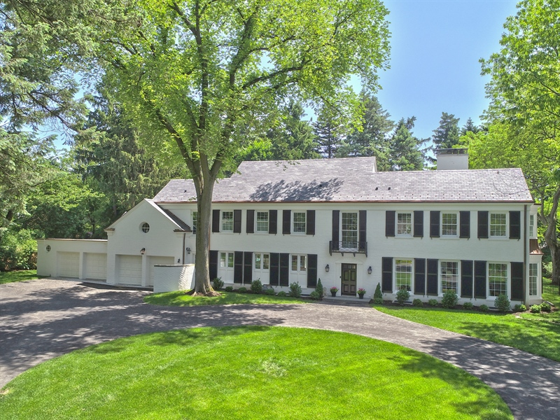 Real Estate Photography - 90 Indian Hill Road, Winnetka, IL, 60093 - Aerial View