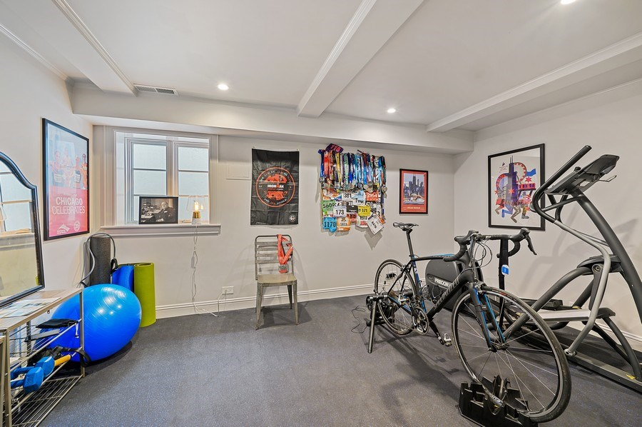 Real Estate Photography - 90 Indian Hill Road, Winnetka, IL, 60093 - Exercise Room
