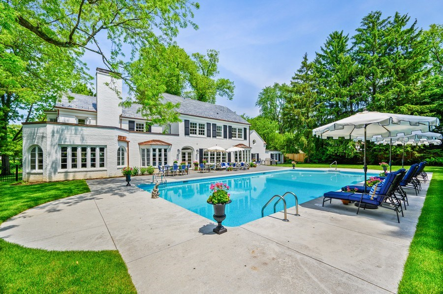 Real Estate Photography - 90 Indian Hill Road, Winnetka, IL, 60093 - Rear View