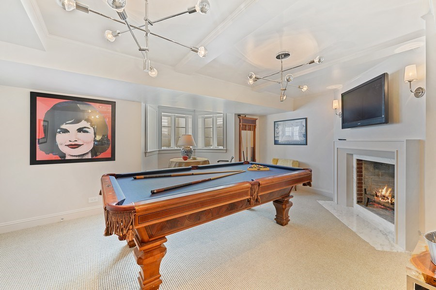 Real Estate Photography - 90 Indian Hill Road, Winnetka, IL, 60093 - Pool Room