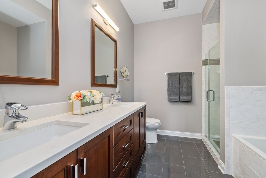 Real Estate Photography - 4721 N. Clark St, #2N, Chicago, IL, 60640 - Master Bathroom
