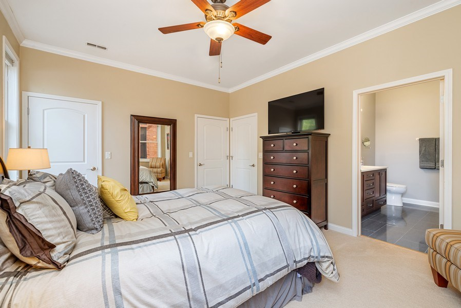 Real Estate Photography - 4721 N. Clark St, #2N, Chicago, IL, 60640 - Master Bedroom
