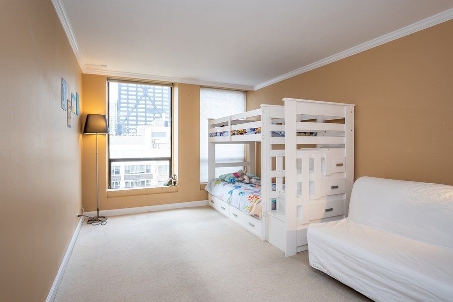 Real Estate Photography - 260 E Chestnut St, Unit 2401, Chicago, IL, 60611 - 2nd Bedroom