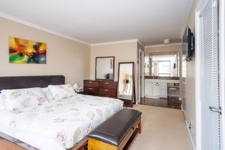 Real Estate Photography - 260 E Chestnut St, Unit 2401, Chicago, IL, 60611 - Master Bedroom