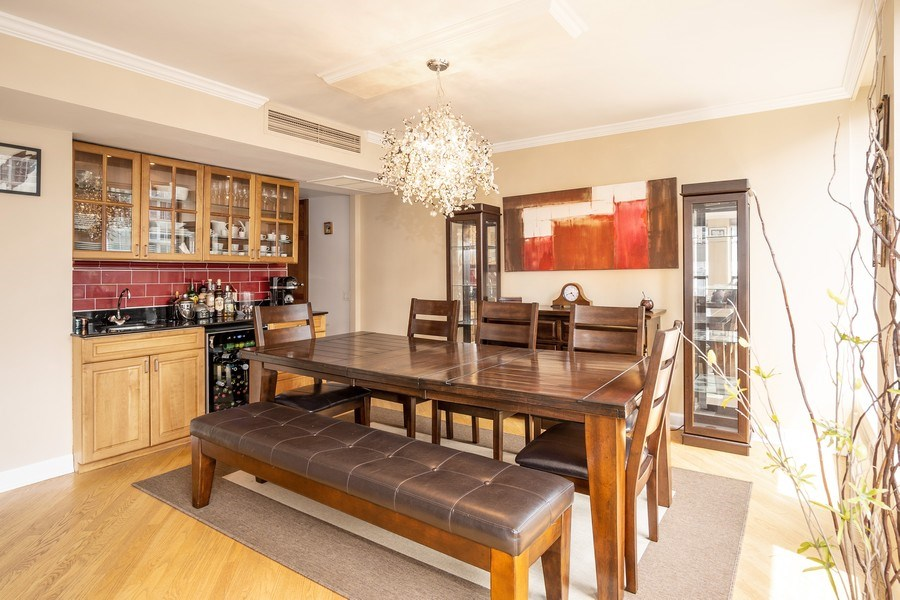 Real Estate Photography - 260 E Chestnut St, Unit 2401, Chicago, IL, 60611 - Dining Area
