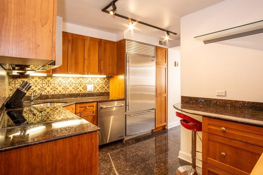 Real Estate Photography - 260 E Chestnut St, Unit 2401, Chicago, IL, 60611 - Kitchen