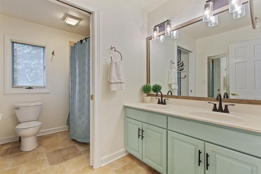 Real Estate Photography - 24547 W. Park River Lane, Shorewood, IL, 60404 - 3rd Bathroom
