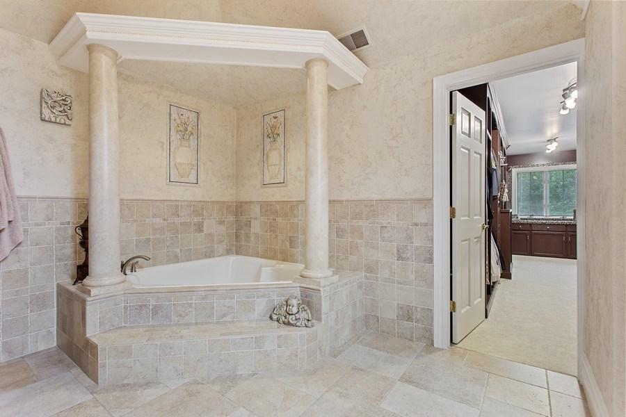 Real Estate Photography - 24547 W. Park River Lane, Shorewood, IL, 60404 - Master Bathroom