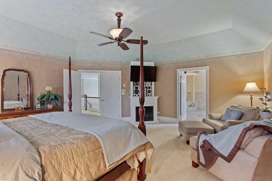 Real Estate Photography - 24547 W. Park River Lane, Shorewood, IL, 60404 - Master Bedroom