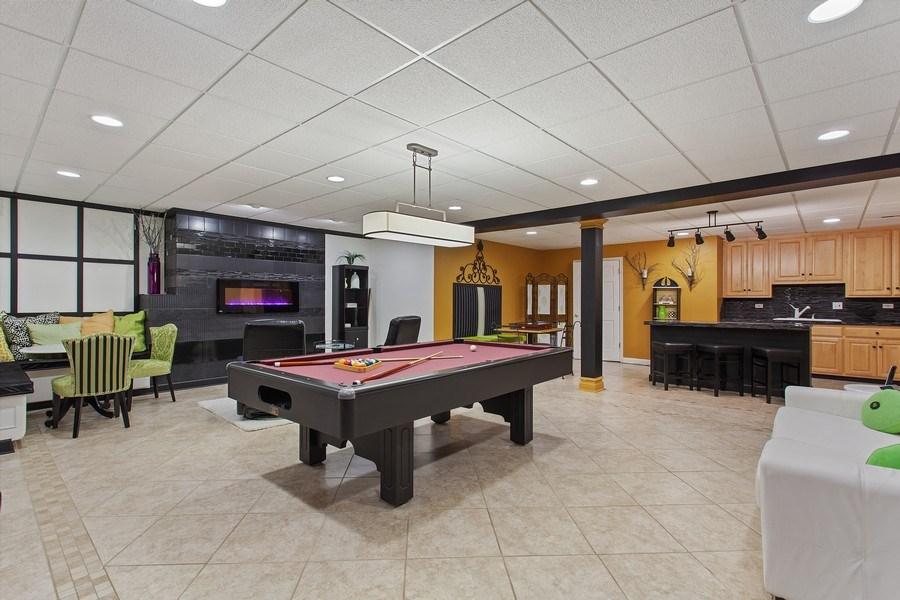 Real Estate Photography - 24547 W. Park River Lane, Shorewood, IL, 60404 - Basement
