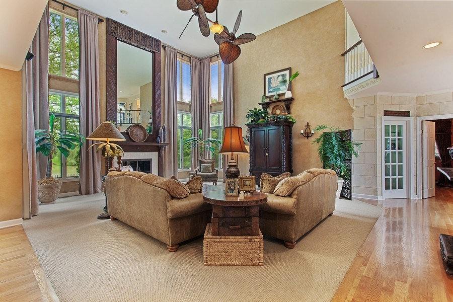 Real Estate Photography - 24547 W. Park River Lane, Shorewood, IL, 60404 - Family Room