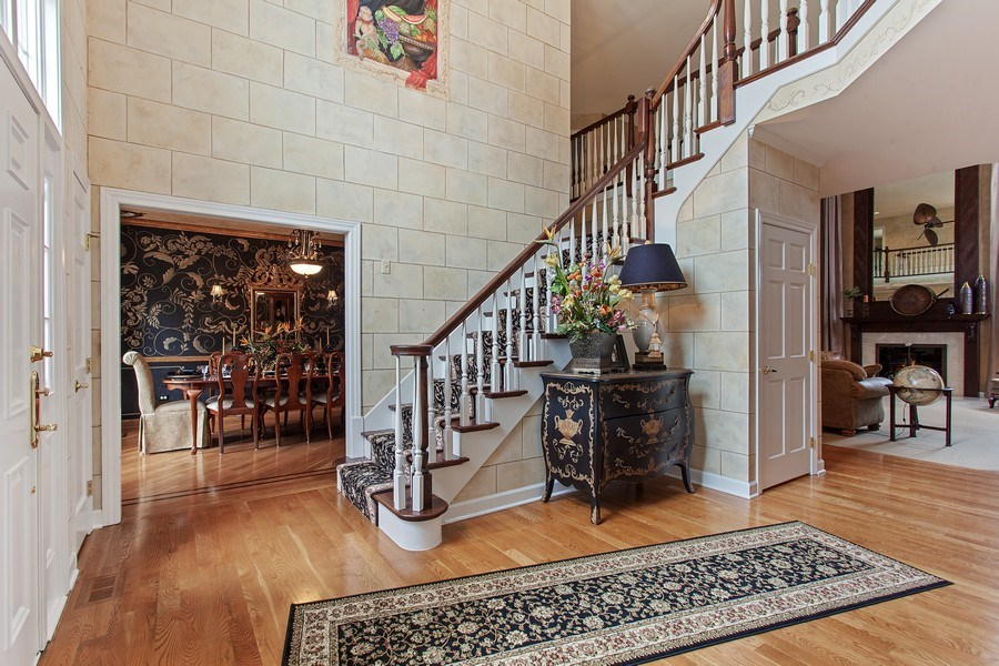 Real Estate Photography - 24547 W. Park River Lane, Shorewood, IL, 60404 - Foyer
