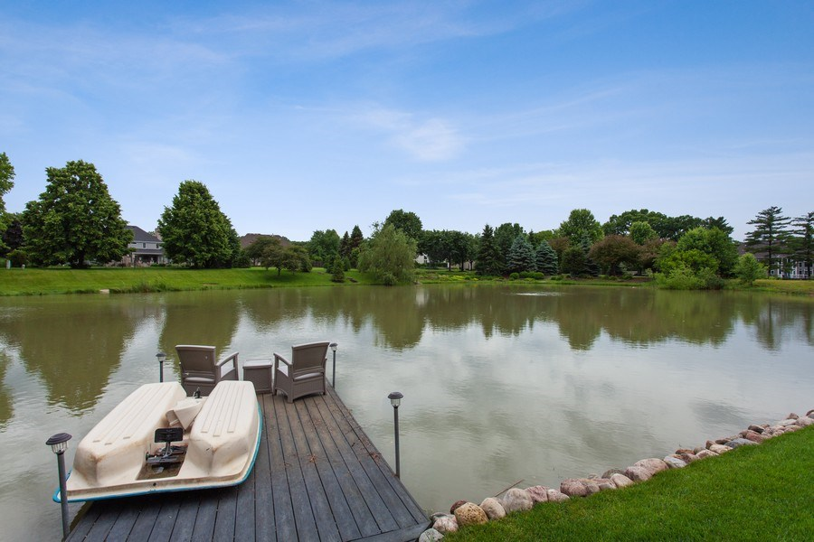 Real Estate Photography - 24547 W. Park River Lane, Shorewood, IL, 60404 - Pond