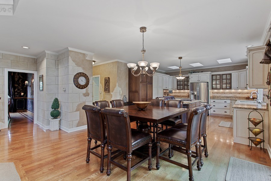 Real Estate Photography - 24547 W. Park River Lane, Shorewood, IL, 60404 - Breakfast Area