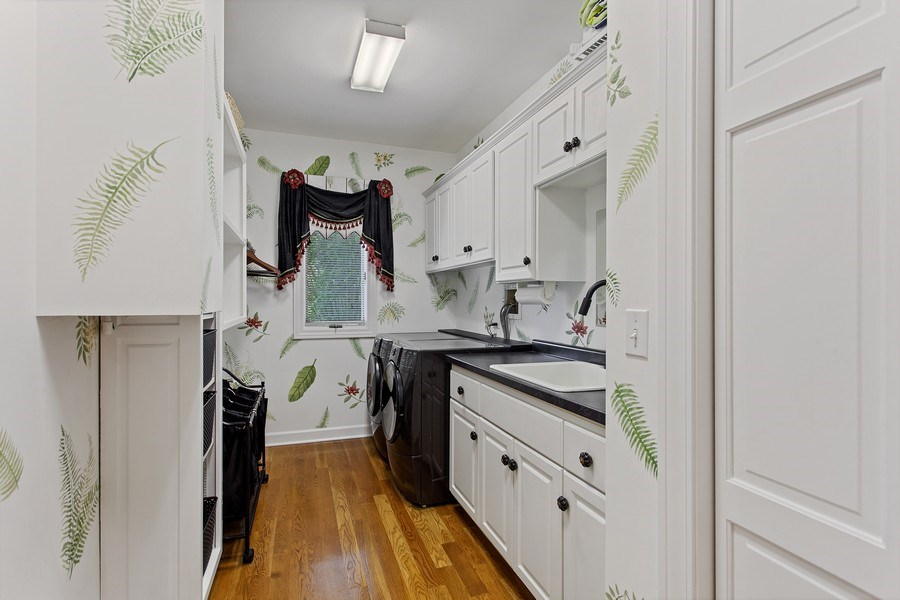 Real Estate Photography - 24547 W. Park River Lane, Shorewood, IL, 60404 - Laundry Room
