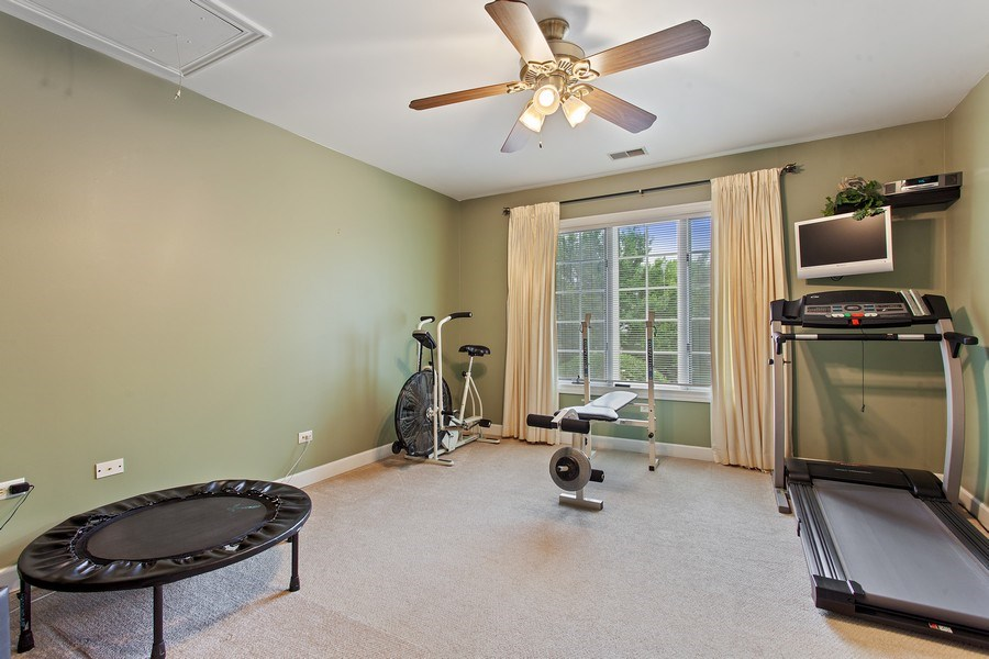 Real Estate Photography - 24547 W. Park River Lane, Shorewood, IL, 60404 - Play / Recreational Room