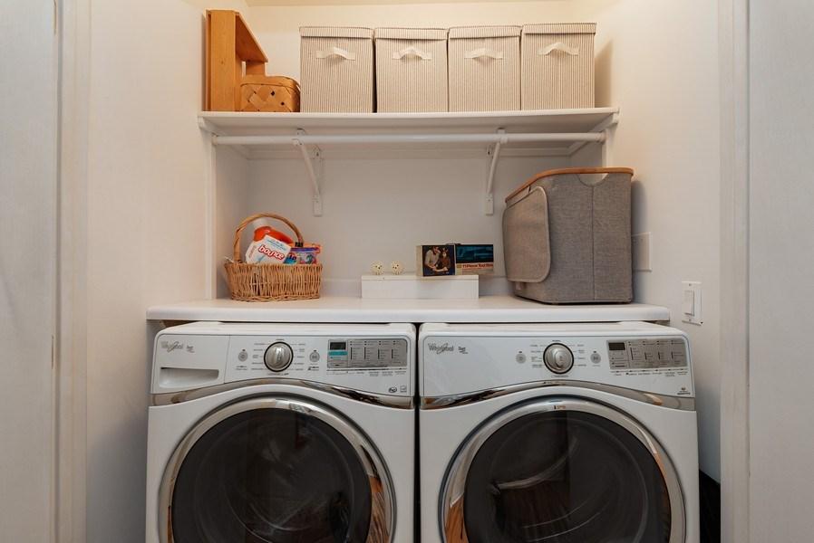 Real Estate Photography - 728 W Aldine Ave, Unit 2E, Chicago, IL, 60657 - Laundry Room