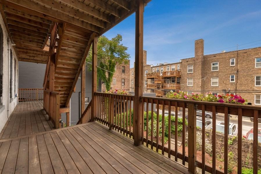 Real Estate Photography - 728 W Aldine Ave, Unit 2E, Chicago, IL, 60657 - Deck