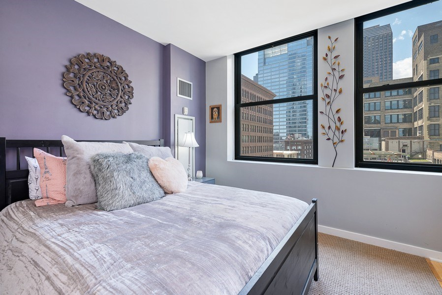 Real Estate Photography - 5 N Wabash, 1606, Chicago, IL, 60602 - Bedroom