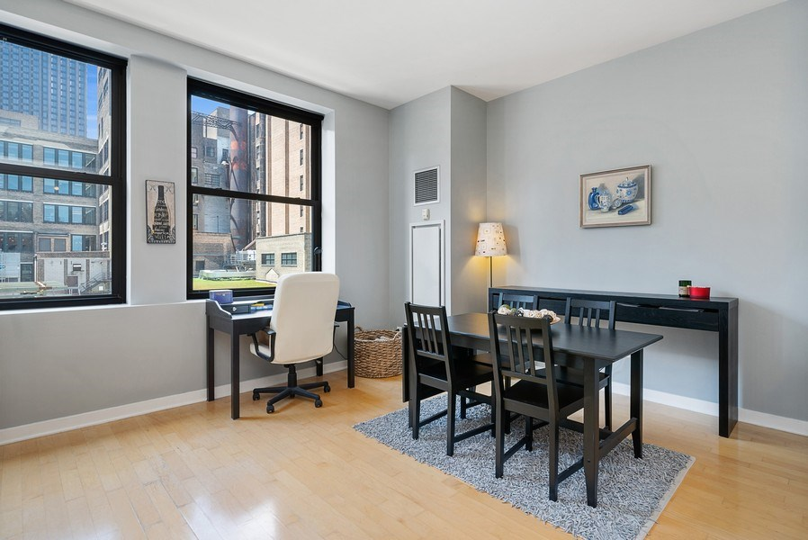 Real Estate Photography - 5 N Wabash, 1606, Chicago, IL, 60602 - Dining Room